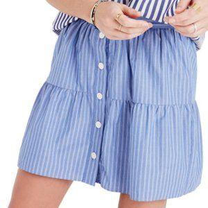 MADEWELL/ bistro pinstripe skirt